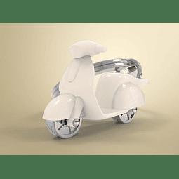 Llavero Scooter  Beige