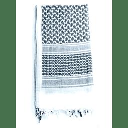 Shemagh Scart (Hata) Blanco-Negro