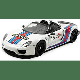 Carro Colección AUTOArt  Porsche 918 White-Martini 1/18