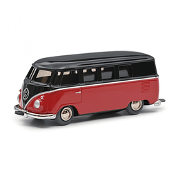 Carro Colección de Cuerda Micro Racer Vw T1 Bus, Brown-Red