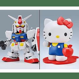 Figura Colección  Gundam Hello Kitty And Rx-78-2 Mode