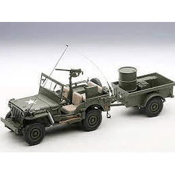 Carro Colección  Jeep Willys With Trailer 1/18