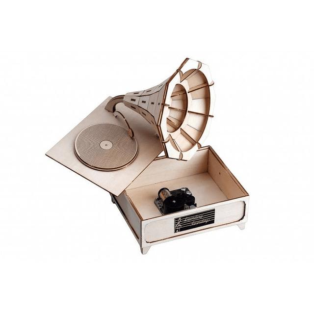 Gramafono Con Caja Musical