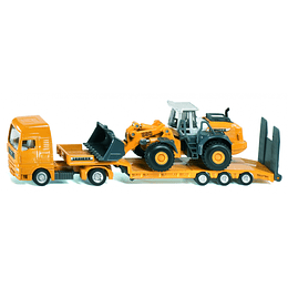 Low Loader With  Four Wheel 1/87