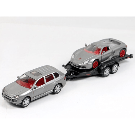 Car With Trailer 1/55