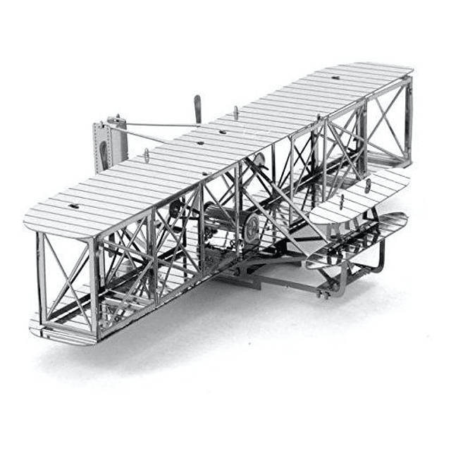 Wright Brothers Airplane Metal Eart