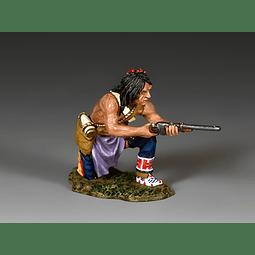 Kneeling Plains Indian W/Carbine