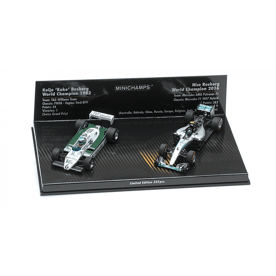 2 Car Set Williams Ford Fw08  1/43
