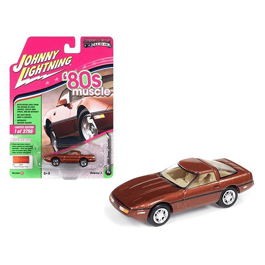 Johnny Lightning 1988 Chevrolet Corvette Bronce Metálico 1/64