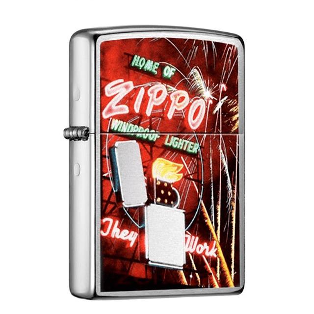Pure-Zippo Neon Sign