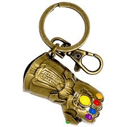 GAUNTLET COLORED PEWTER KEY CHAIN