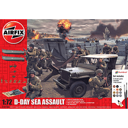 Maqueta D-Day Sea Assault 75Th Gift Set 1:72 / Set de asalto marítimo del día D