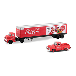 M2 T1956 Ford Coe And 1956 Ford F-100 Coca-Cola  1/64