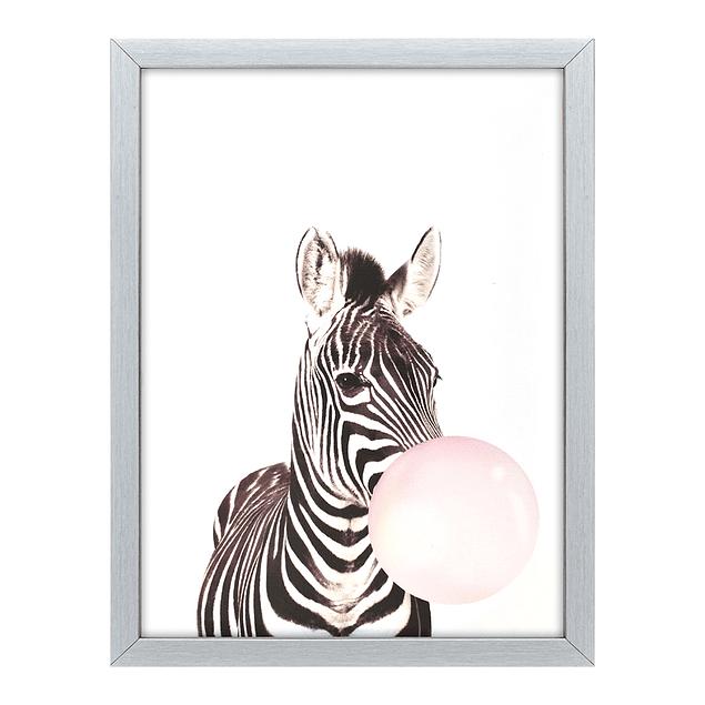 Cuadro Tela 30 X 40 Zebra