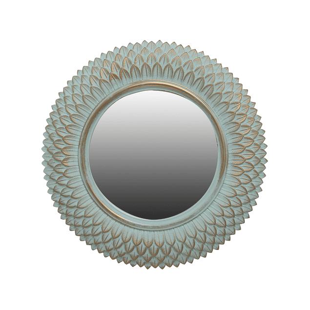 Espejo Plumas Verde Menta