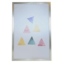 Cuadro Tela 40 X 60 Geométrico Triangulos