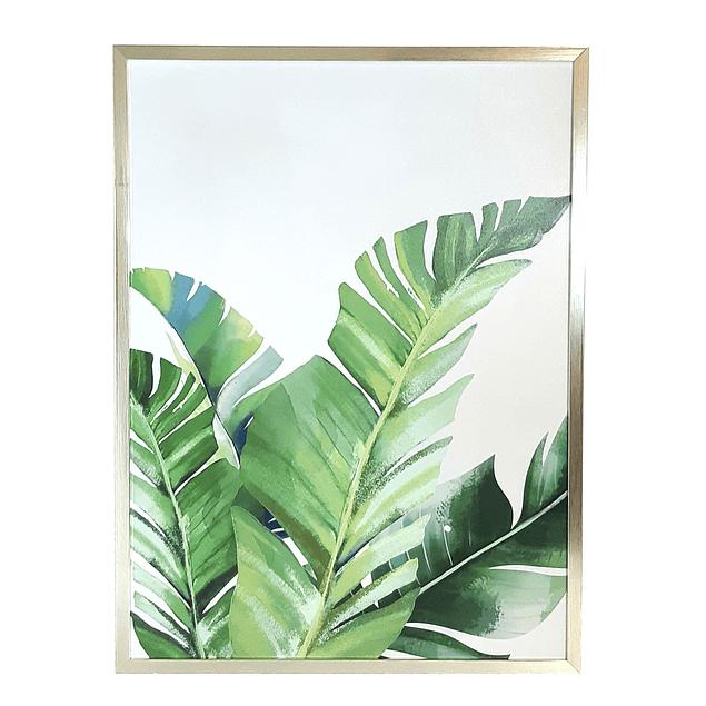 Cuadro Tela 60 x 80 Botánico Verde