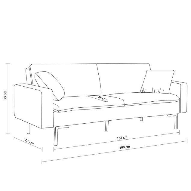 Sofá Bed Pleasure - Azul Eléctrico