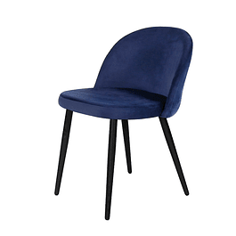 Silla Charm Velvet Azul Eléctrico