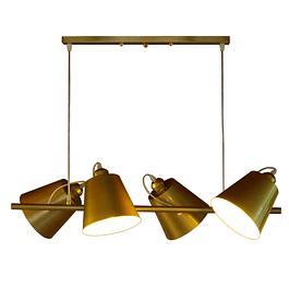 Lámpara de Techo 4 Bell Gold
