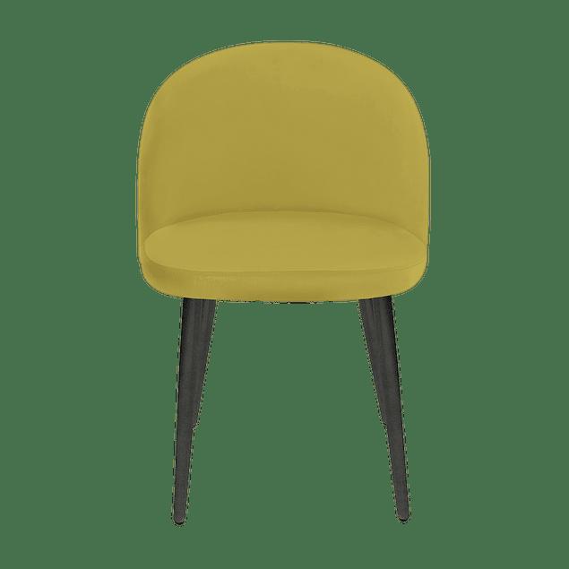 Silla Charm Velvet Mostaza