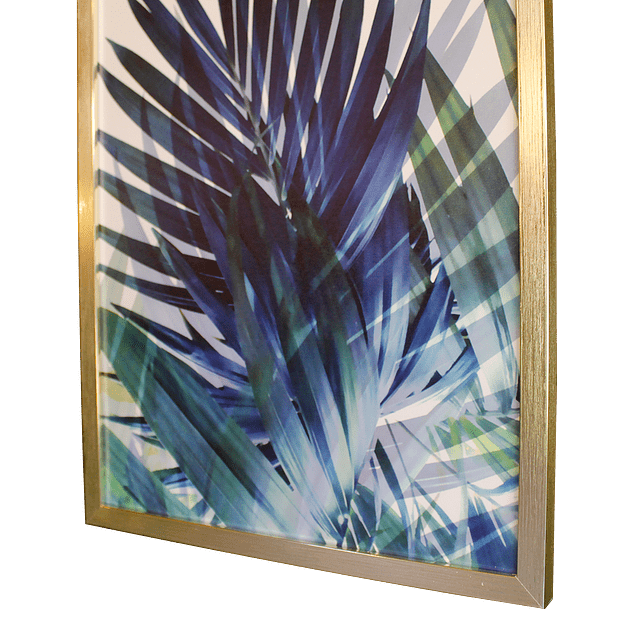 Cuadro Tela 60 x 80 Botánico Azul