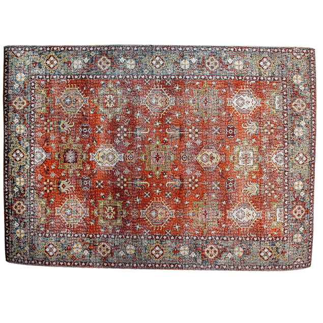 Alfombra Vintage Kashkuli - rojo - 200x300