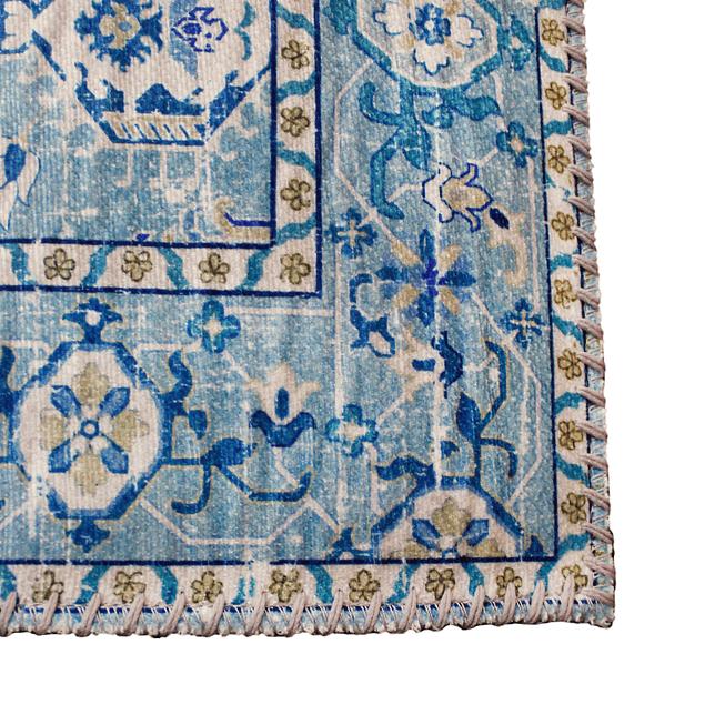 Alfombra Vintage Shiraz - Light Blue - 150 x 200