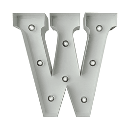 Letra Metalica Led W
