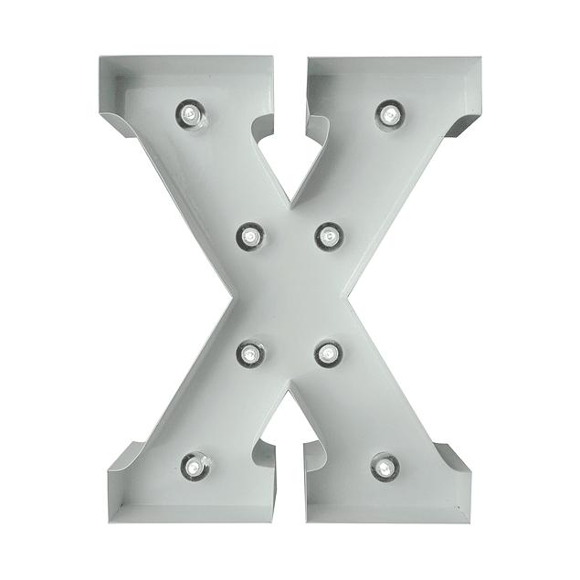 Letra Metalica Led X