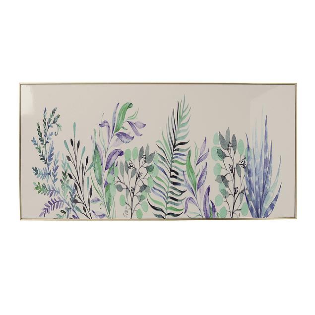 Cuadro Tela 80 x 40 Flores