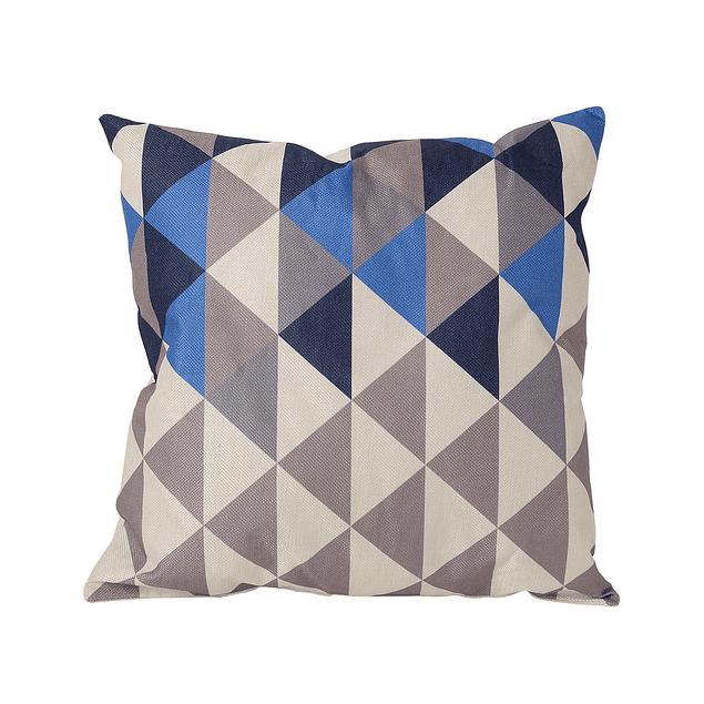 Cojin Impreso Tradicional Prisma Azul