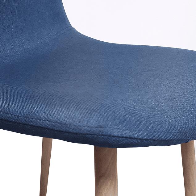 Silla Tela Nordica Deep Blue