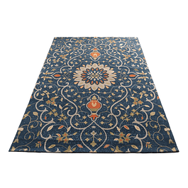 Alfombra Soft Sun Navy Blue 150x200