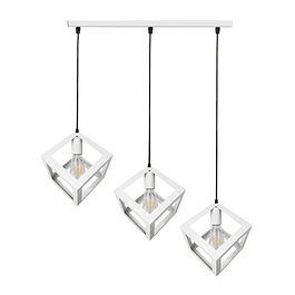 Lámpara de Techo 3 Cubos BLANCA