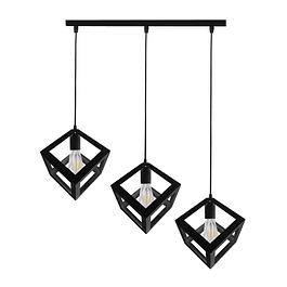 Lámpara de Techo 3 Cubos Negro