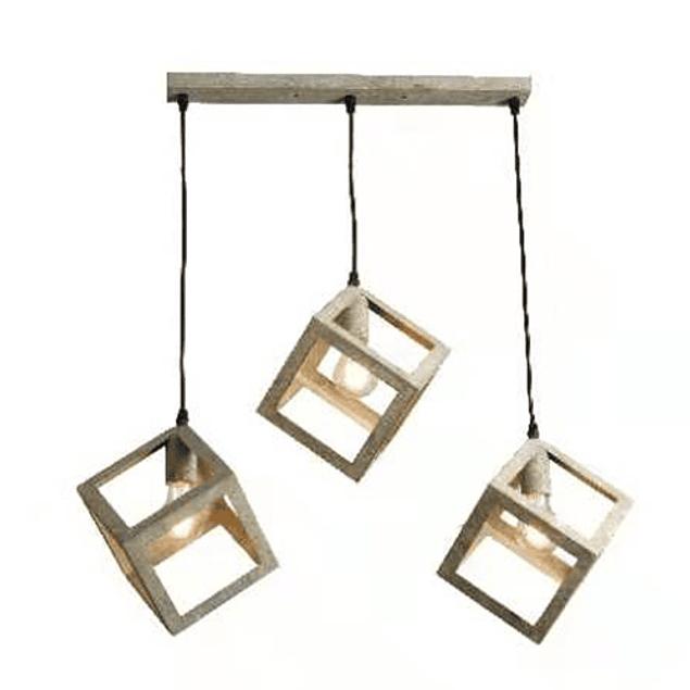 Lámpara de Techo 3 cubos vintage Verde