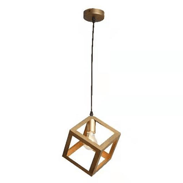 Lampara de Techo Cubo Vintage Gold