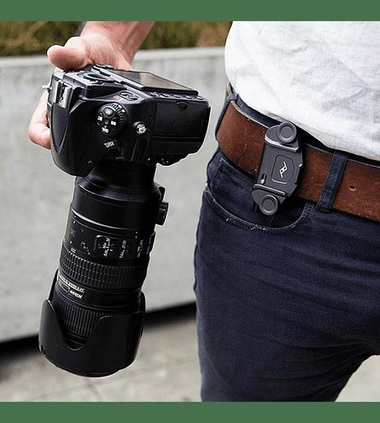 Clip Capture V3 Peak Design con Standard Plate Plateado