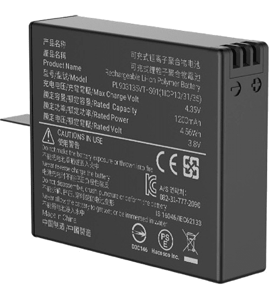 Insta360 One X Bateria