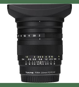 Tokina Firin 20mm f/2 FE MF Sony E