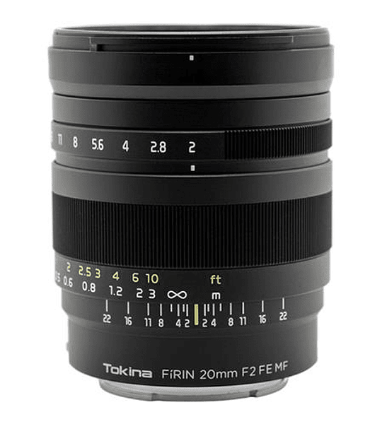 Tokina Firin 20mm f/2 FE MF Sony E