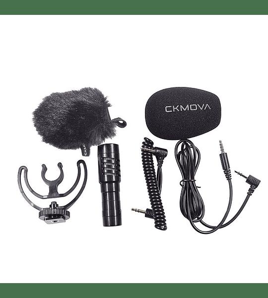 Microfono Ckmova de Condensador para Camaras y Smartphone