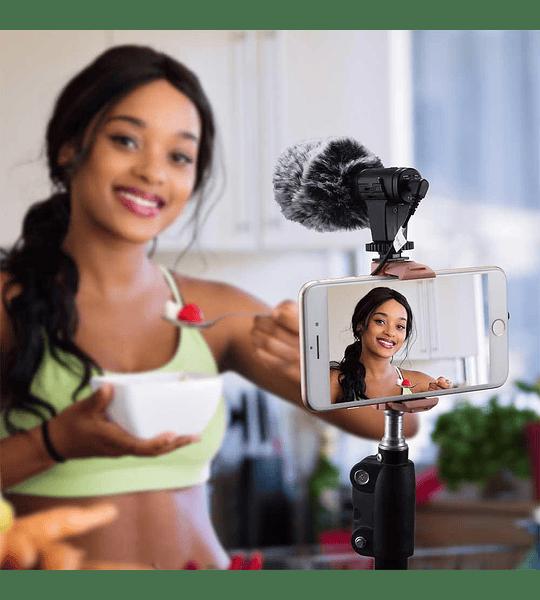 Microfono Ckmova de Condensador para Camaras y Smartphone Construccion Metalica Liviana