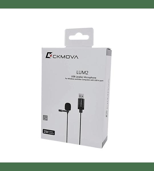 Microfono Ckmova Lavalier USB para Computador Windows y Mac 4 metros de largo