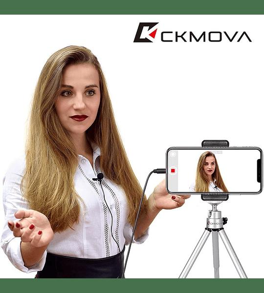 Microfono Ckmova Lavalier Omni de Condensador para Smartphone y Camara Sin Bateria