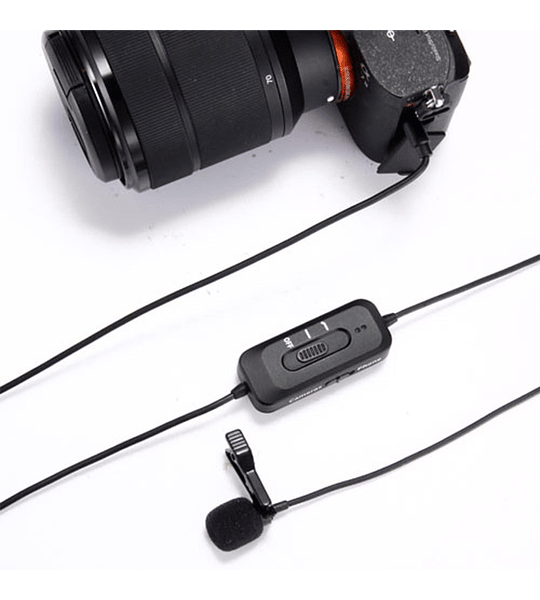 Microfono Ckmova Lavalier Omni de Condensador para Smartphone y Camara