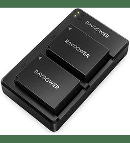 Baterías de litio Ravpower Fujifilm NP-W126S Kit 2x con Cargador USB
