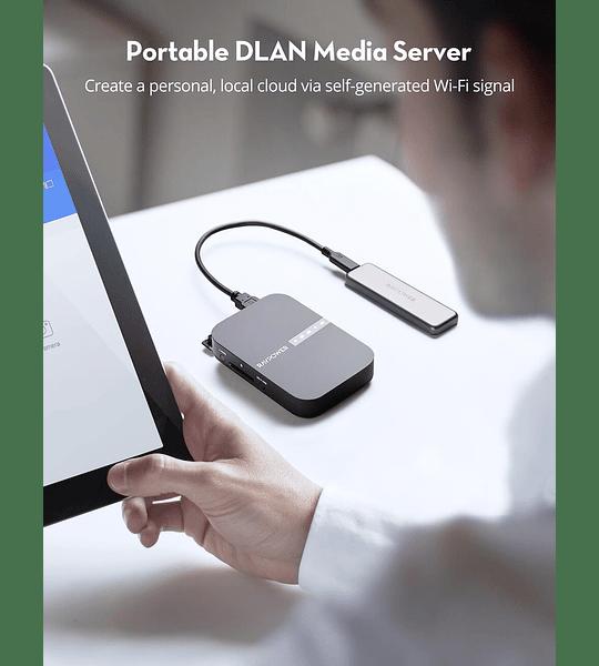 FileHub Inalámbrico para Respaldo, WiFi y Batería Externa 6700 mAh RAVpower