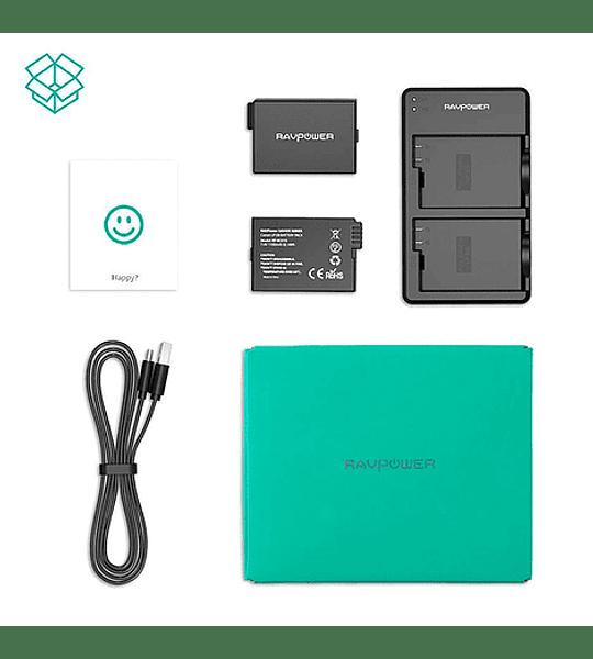 Batería Reemplazo Canon LP-E8 Kit 2x con Cargador USB
